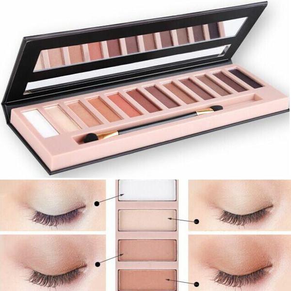 SıCAK Makyaj Göz Farı 12 renk göz farı paleti Kadın moda Kozmetik güzellik göz farı Ücretsiz DHL TNT Fedex