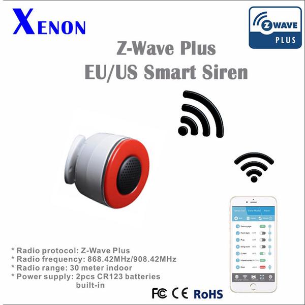 Wholesale-Free shipping Xenon Smart Siren Sensor Z-Wave Smart Alarm Sensor SM-a707a Application control Home Automation security Systems