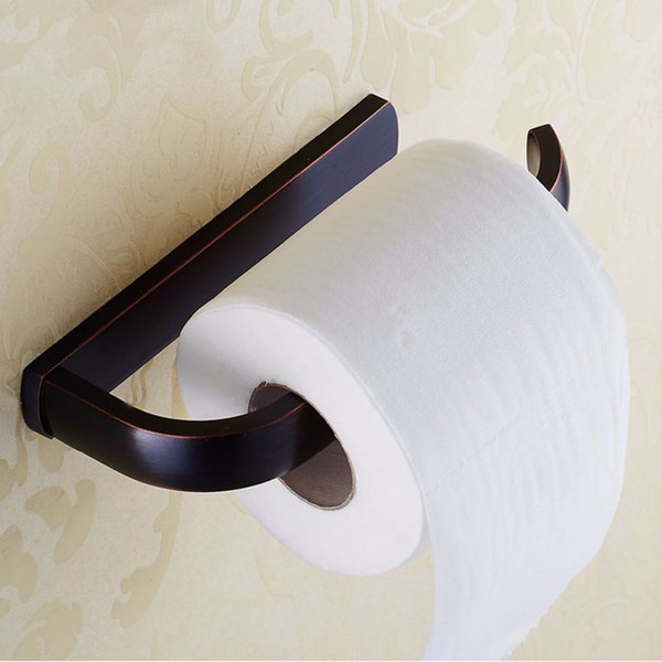 Antique Oil Rubbed Bronze Solid Brass Toilet Paper Holder Roll ...