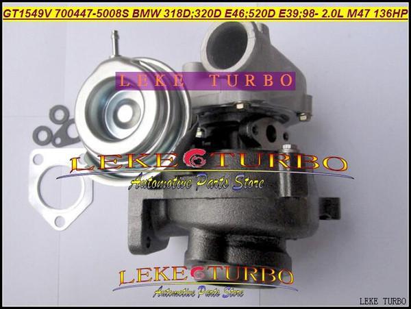 GT1549V 700447 5008S 700447 700447 0007 11652248905 Turbocharger Turbo For  BMW 318D 320D E46 520D E39 1999 2001 M47 2 0L 136HP Turbocharged Car