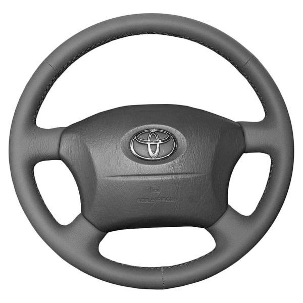 Direksiyon kapakları Toyota Land cruiser Prado eski modeller için kılıfları Hakiki deri DIY El-dikiş Araba tasarım Iç dekorasyon