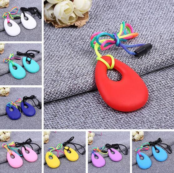 best selling Silicone Teeth Necklaces Baby Teether Toys Food Grade Soft Teething BPA Free Toddler Infant Tooth Training Chewing Molars Massager Pendant