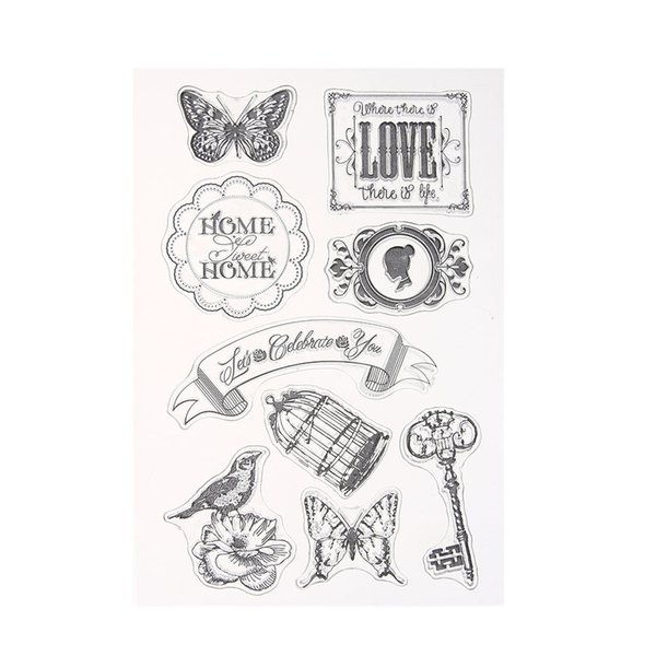 Wholesale Transparent Clear Badge Style Rubber Stamp For Diy ...
