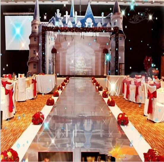 10m Per lot 1m Wide Shine Silver Mirror Carpet Aisle Runner For Romantic Wedding Favors Party Decoration Free Shipping