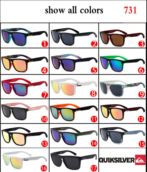 top popular 2017 high quality QUIKSILVER fashion new sunglasses QS731 wholesale DHL free shipping 2019