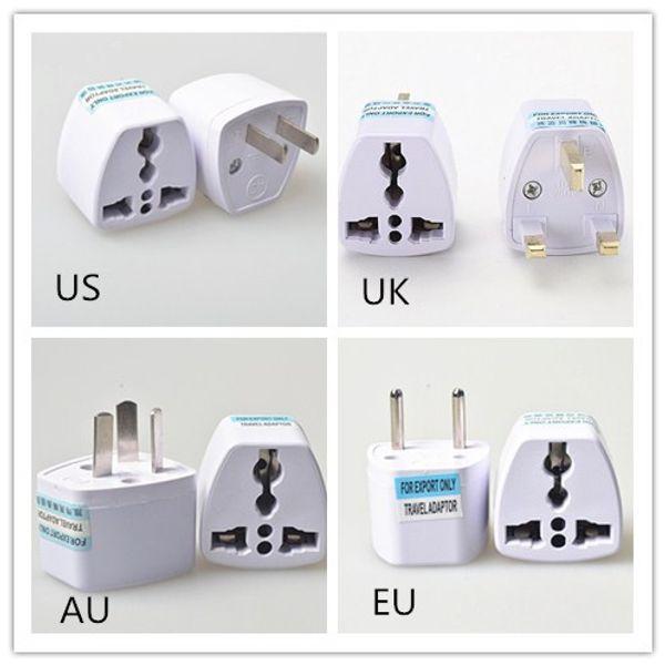 Adaptador Universal de Viagem UE EUA AU para REINO UNIDO Adaptador Conversor de Viagem Plug Power Adapter Carregador 250 V 10A Conversor Tomada Branco 50 pcs hot DHL