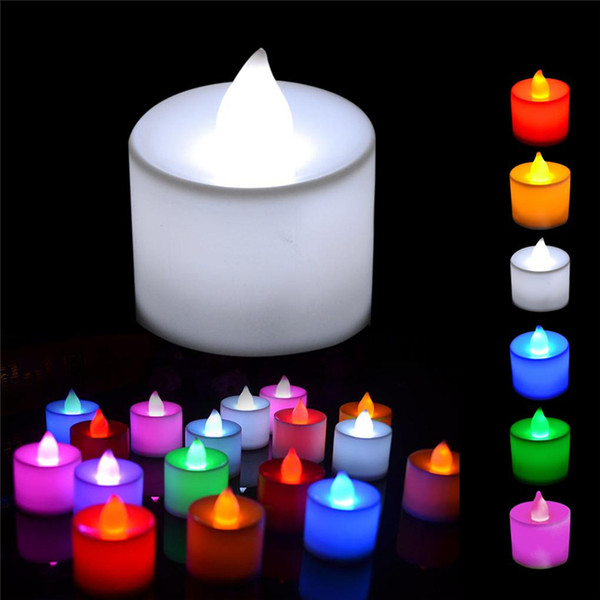top popular LED Candle LED Tea Light Battery Candles Wedding Party Holiday Decoration Candle Light Home Decoration Romance Atmosphere Lamp 2019
