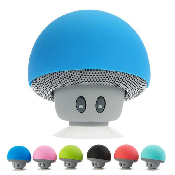 5pcs / lot Mini drahtloser tragbarer Bluetooth Lautsprecher Mini Bluetooth Pilz Lautsprecher Mini Lautsprecher für Handy iPhone iPad Tablet Samsung