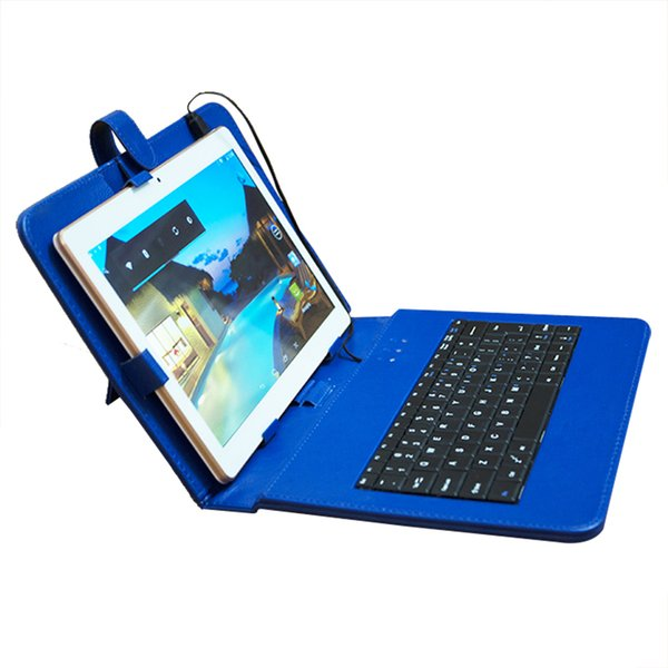 10.1 Inch Tablet PC Quad Core Andriod 4.4 3G MTK6582 Phone Tablets Dual Card Camera IPS 1GB 16GB 4GB 64GB Bluetooth GPS with Keyboard case