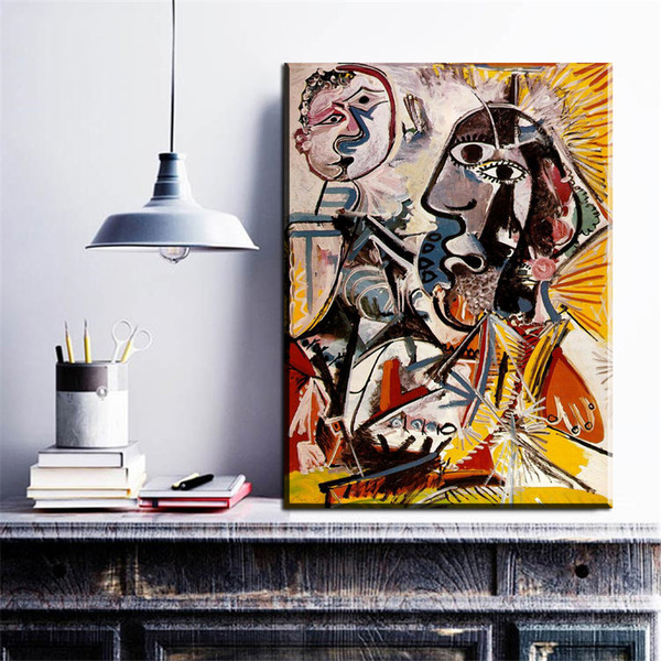 ZZ841 Pablo Picasso Cuadros Wall Art Paintings Cheap Painting Picasso portrait canvas Wall Pictures for Living Room No Frame