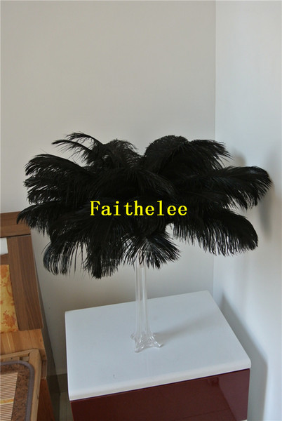 FREE SHIPPING 50pcs Ostrich Feather plume black for wedding Centerpieces wedding decor party event supply decoraction event supply