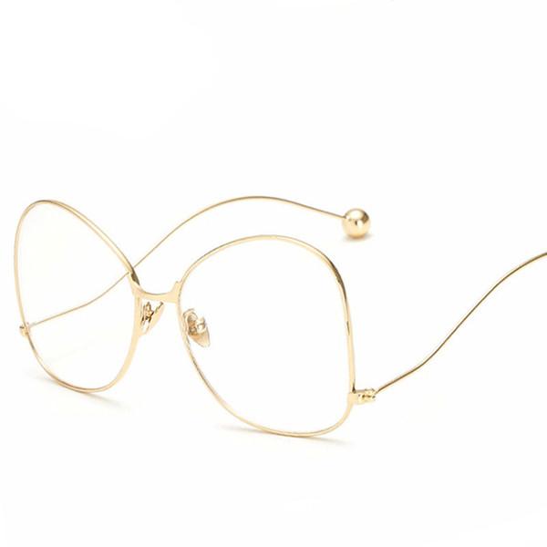 Moda grande Niños Niñas Espejo plano Gafas de marco de acero Gafas de protección contra la radiación 5 colores C2081