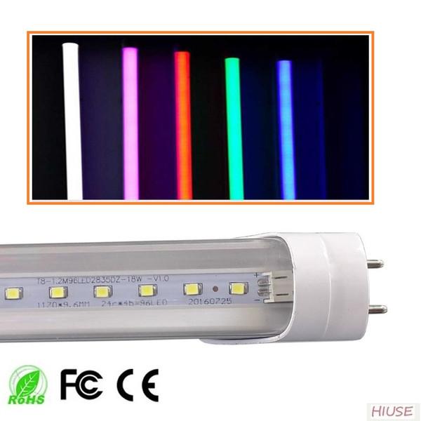 Bunte 2ft T8 LED Leuchtröhre 10W Innendekoration Licht SMD2835 rot blau grün rosa warm Natur kaltweiß direkt aus China Factory