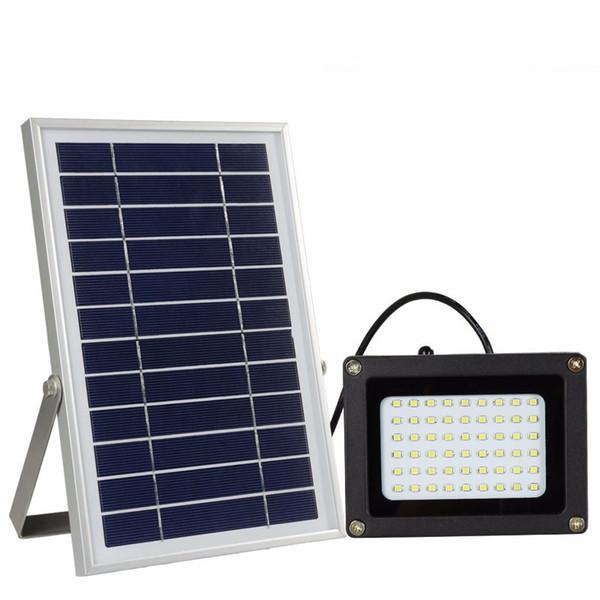 Projecteur de rue Garden Street 54 LED IP65 Imperméable Blanc froid Solaire LED Projecteur de jardin extérieur Paysage de route Lumière Lampe de