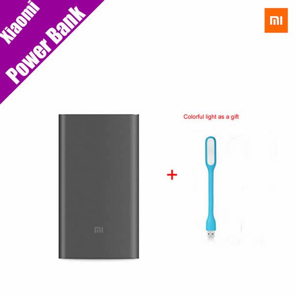 Original Xiaomi Mi Power Bank Pro 10000mAh Mi Powerbank Pro 10000 Slim USB Type-C Faster Charge for Xiaomi Mi5 for iphone7/7plus