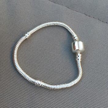 Authenic 925 Sterlingsilber 17cm-23cm Firmenzeichen mit Krone für Pandora-Haken-Art-Armband DIY Schmucksachekomponente geben Verschiffen frei