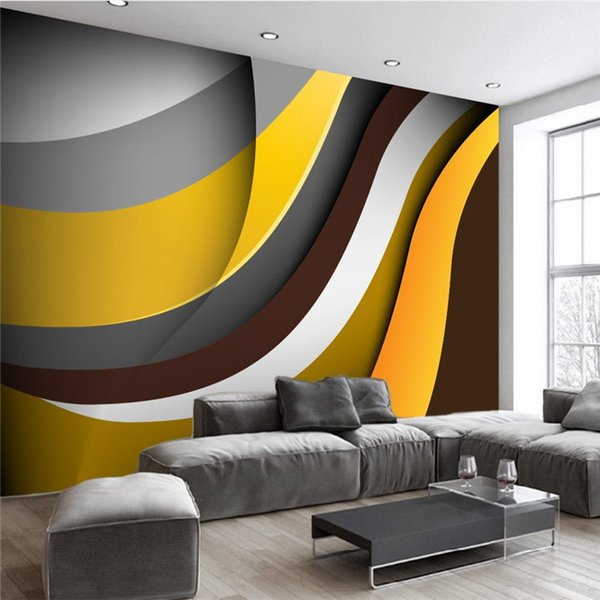 Modern living room background wallpapers television hotel office ...