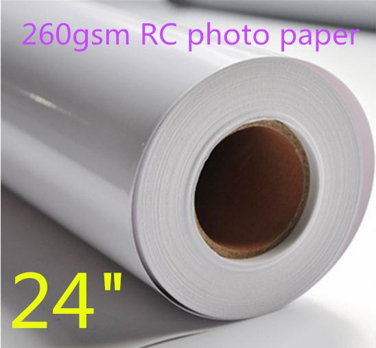 """24""""*30m 260gsm RC Glossy Digital Printing Photo Paper Roll,Resin Paper"""