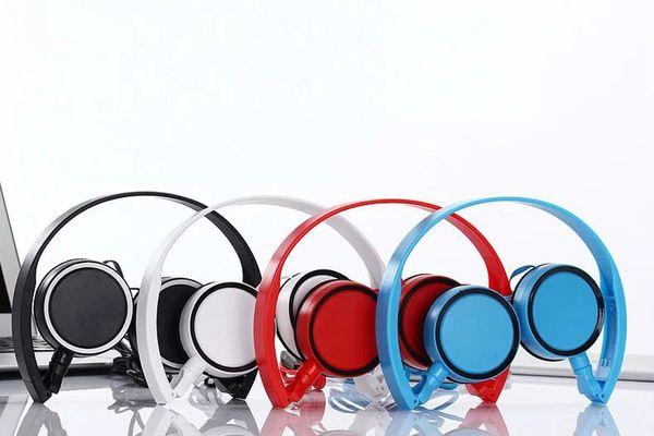 Draht Kopfhörer Kopfhörer mit Mikrofon Mic 3,5 mm Klinke Stereo Kopfhörer für iPhone Samsung LG Tablets PC Universal