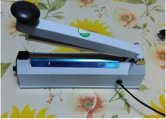 SF-200 (ancho de sellado de 8 mm) Película de plástico, bolsa de papel de aluminio, máquina de sellado de impulso de calentamiento de bolsa de papel kraft, sellador de impulso de cuerpo de hierro