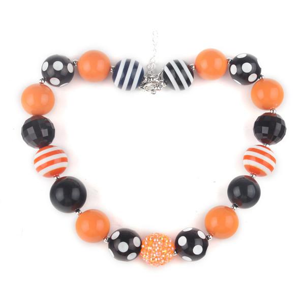 Heißeste klumpige wulstige Kinderhalloween-Halsketten-Partei-Bevorzugungs-Mädchen Bubblegum-Halskette Bestes GESCHENK Kleinkind-Säuglingsschmuck