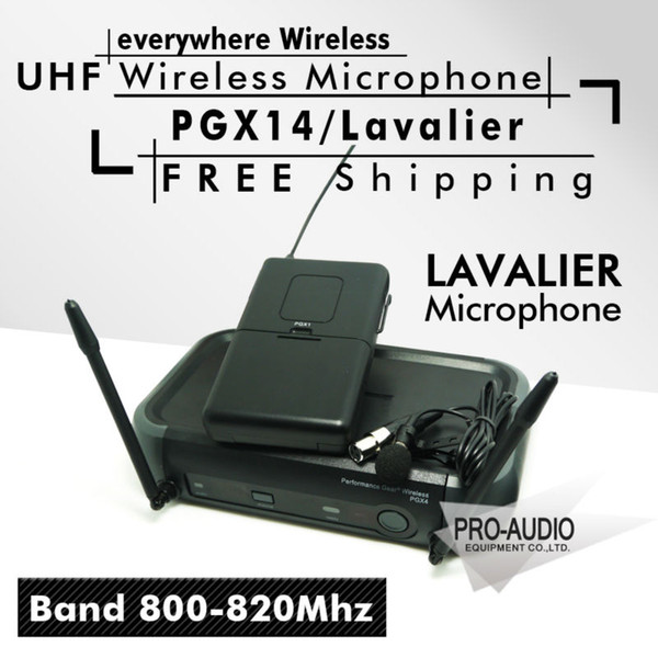 Free Shipping! PGX PGX14 WL93 UHF Professional Karaoke Wireless Microphone System with Lapel Lavalier Collar Clip Mic 800-820Mhz