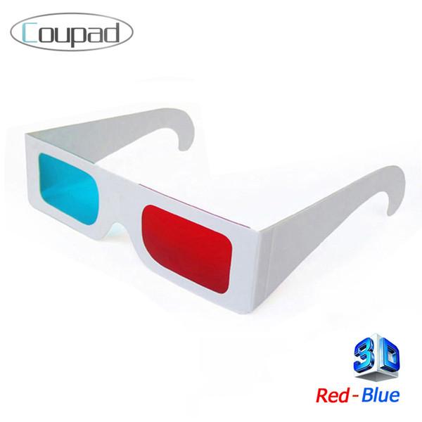 ¡Artículos calientes del envío libre al por mayor! 1pc Papel 3D Gafas 3d video virtual Ver Anaglyph Red Cyan Rojo / Azul 3d Glass