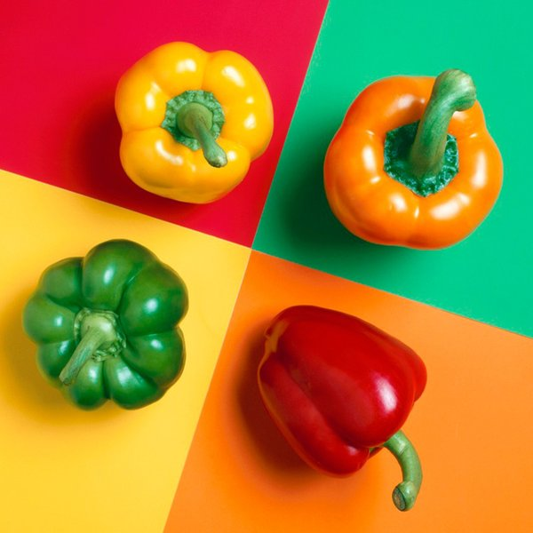 High-quality Seeds Multicolored Peppers Red Yellow Green White And Purple Bell Peppers Seeds Potted Plant Home & Garden 100 Pcs