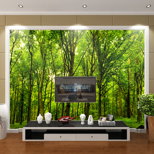 custom 3d wallpapers mural non-woven fabric 3d room wallpaper forest road 3 d space background wall photo 3d wall Home Decor