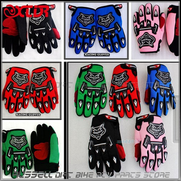 Wholesale- Racing gloves for YOUTH/PEEWEE kids motorcycle Bicycle Dirt Pit Bike Poceket bike Motorbike ATV/QUAD