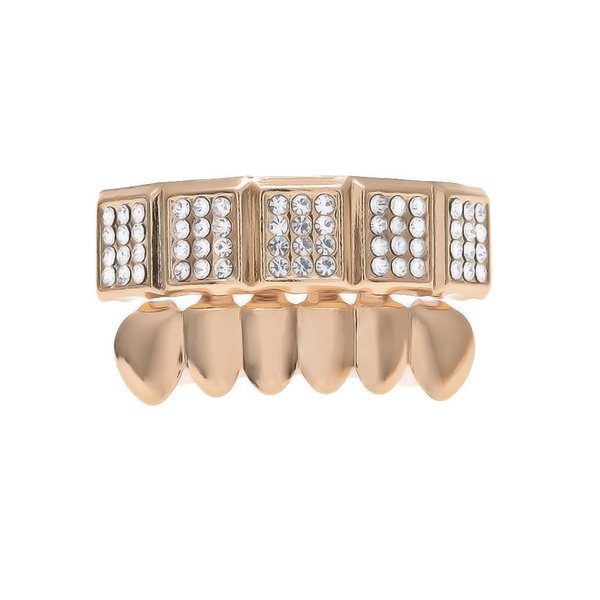 Freeshipping Man's Grllz Hip Hop Accessories Gold Plated Teeth 2017 Pop Party Gift Brand hiphop grillz Luxury Jewelry
