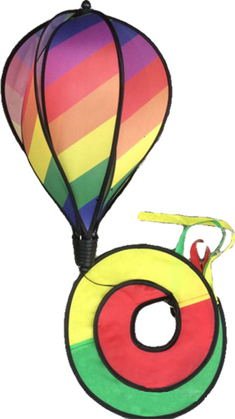 New Foldable Rainbow Spiral Windmill Colorful Garden Wind Spinner Camping Tent Home Garden Decoration Decor Free Shipping