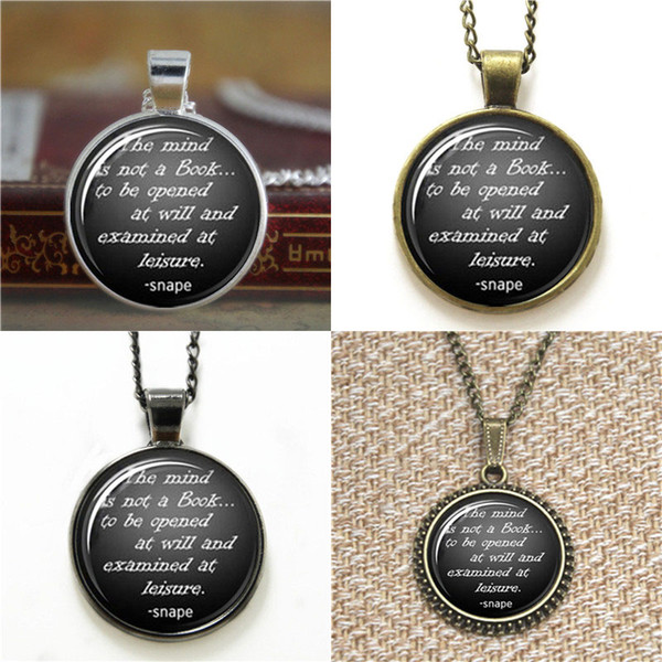 10pcs HP Quote The mind is not a book Glass Photo Necklace keyring bookmark cufflink earring bracelet