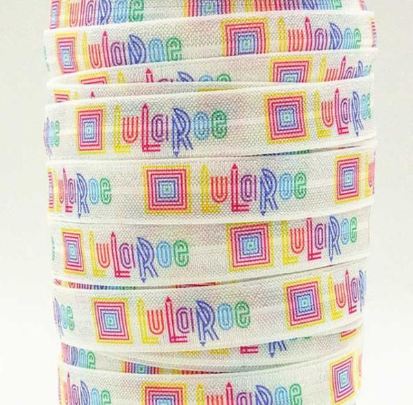 Venta al por mayor / OEM de la cinta 16 mm 5/8 pulgadas 170216001 de dibujos animados impresa doblada sobre las correas elásticas 50yds / roll FOE envío gratis para lazos para el cabello