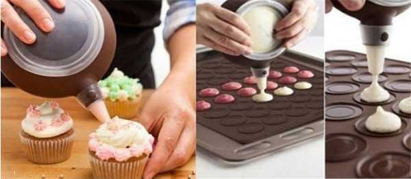 Wholesale- New Silicone Macaron Macaroon Pastry Oven Baking Mould Sheet Mat 30-cavity DIY Mold Baking Mat Hot Sale