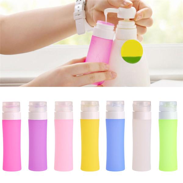 Wholesale- 1PC portatile ricaricabile bottiglia di silicone Traveller Lotion Shampoo Bath Contenitori 80ML