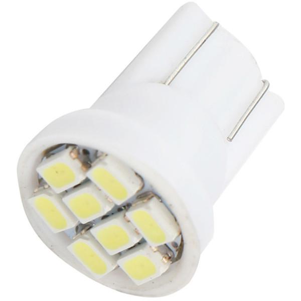 Vente chaude prix chaud !!! 500pcs / lot T10 194 168 1206 8 SMD 8LED Parking Ampoules LED Ampoule Wedge Lumière Intérieure Blanc