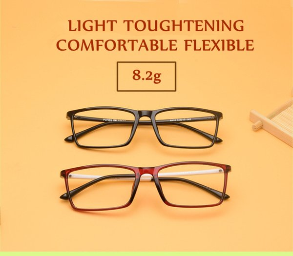 New Super-light tough and comfortable quality TR90 prescription glasses frame concise unisex eyeglasses cheap wholesale price 7colors TR8818