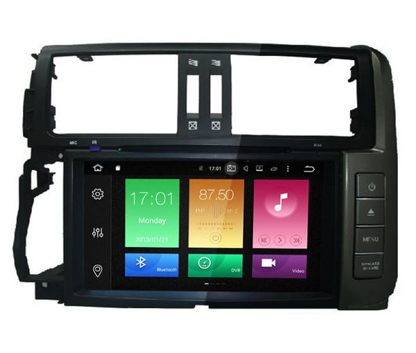 "8"" Octa Core Android 6.0 System Car DVD Auto GPS For Toyota Lander Curiser Prado 2010-2013 Radio Stereo Steering Wheel Control BT 2G RAM 4K"