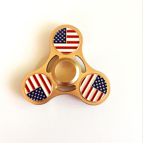 100pcs Hand Spinner Fidget Metal American flag EDC Stress Reliever Fun Toy For Decompression Anxiety Finger Spinner Toys