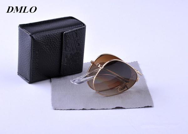 Fashion Pilot Big Frame Sunglasses for Men Folding Sun Glasses Gradient Lenses Sunglasses Women Brand Designer Classic Oversized Sun Glasses