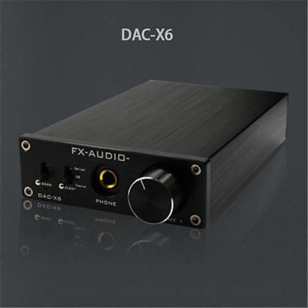 Freeshipping FX-Audio Feixiang DAC-X6 HiFi amp Optical/Coaxial/USB DAC Mini Home Digital Audio Decoder Amplifier 24BIT/192 12V Power Supply