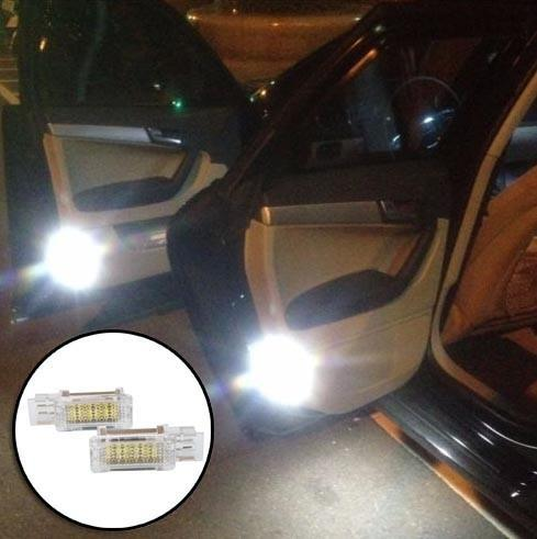 Error Free Car Door Welcome Lights 12V White SMD LED Courtesy Lamp For Mercedes W240 W203 4D 5D R171 R199 W209 W639 Benz Accessories