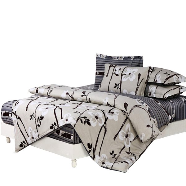 Wholesale-Papa&Mima Bedding sets 6pcs duvet doona quilt fitted cover ned sheet 100% cotton king queen full twin size bedclothes linens