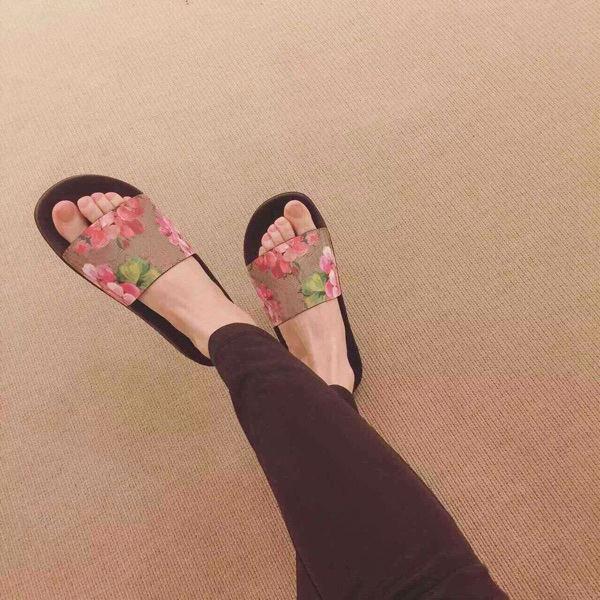 2017ss mens und womens fashion blume tier drucke leder rutsche sandalen jungen und mädchen kausalen strand hausschuhe