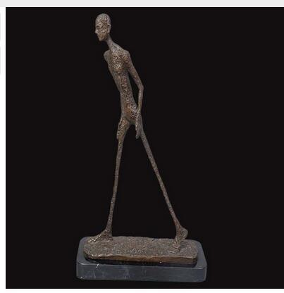 abstract art bronze sculpture walking skeleton statue Art Deco Statue Brass Crafted Human Vintage Handmade Exquisite
