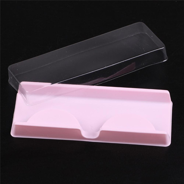 Ambalaj kutusu kirpik boş kirpik plastik ambalaj şeffaf kapak pembe tepsi 204521 toptan (500sets / lot) Ücretsiz Kargo