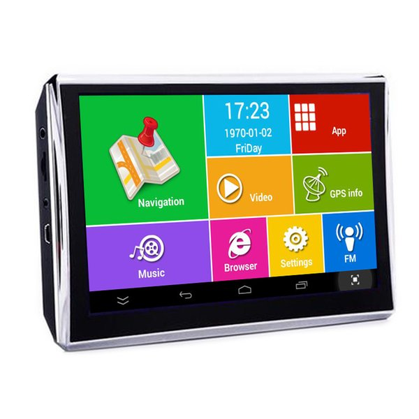 Android 5 inch WIFI Vehicle Bluetooth GPS Navigation Car DVR Camera Recorder 8GB 512MB Truck Navigator Free Maps