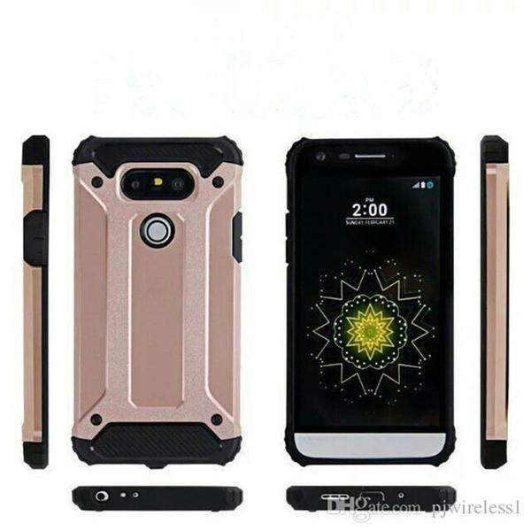 Für iphone 6 plus 7 plus Galaxy A3 A5 2017 Hybrid Dual Layer Rüstung Fall Stoßfest Heavy Duty Slim Cover D