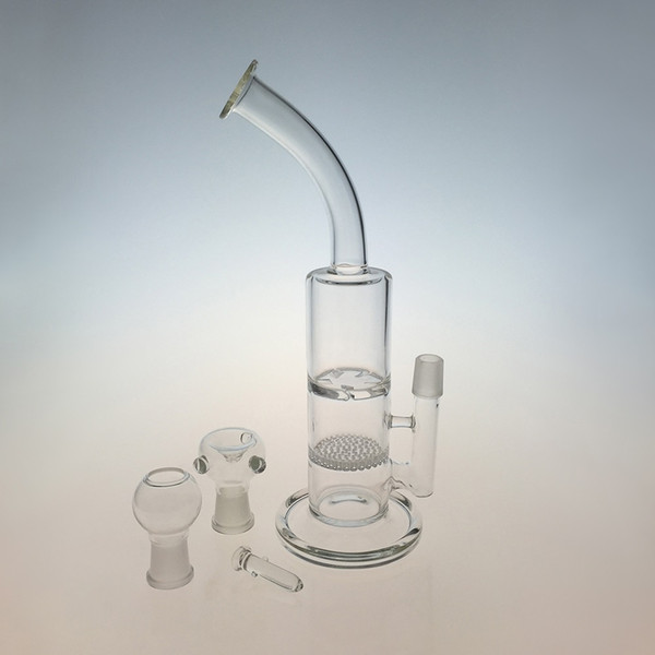 clear bong with bowl+dome+nail